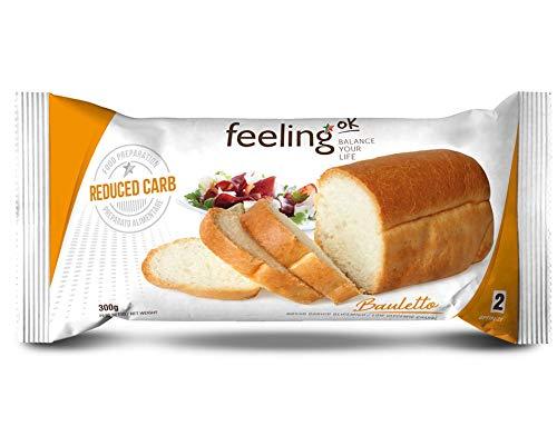 Fooditalia - FeelingOK Optimize 2 - Kohlenhydratreduziertes Weißbrot Bauletto - 300g