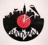 Batman 12' Handmade Vinyl Record Wall Clock Dark Knight Hero Arkham City DC Comics Movie Characters - Get unique home room wall decor - Gift ideas for parents, teens – Epic Movie Unique Modern Art …