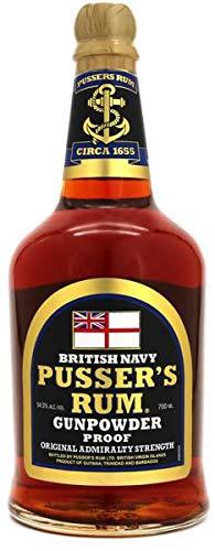 Pusser's British Navy Rum Black Label Gunpowder Proof (1 x 0.7 l)