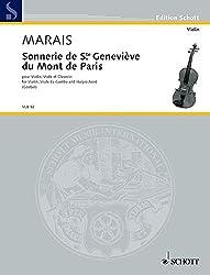 SCHOTT MARAIS MARIN - SONNERIE DE STE GENEVIÈVE DU MONT DE PARIS Partition classique Cordes Violon