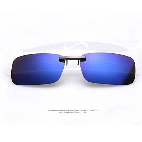 Xatan Polarisierte Sonnenbrille Clip Brillen Aufsatz Brillenträger für Unisex (Blau)