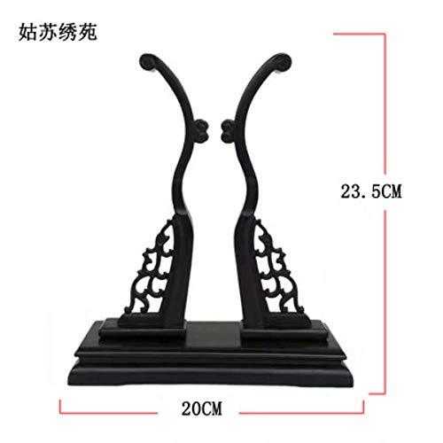 YGGY Stickerei doppelseitiger Fächer handgestickt duftende kaiserliche Konkubine Bambus Palast Fan chinesischer Stil runder Fan, Fan Boden B.