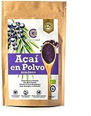 Açaí Ecológico en Polvo, Açaí Berry Organic Powder Biológico Orgánico, Bayas de Acai Organico en Polvo. Hecho con la Pulpa de Açaí, Superalimento de Cultivo Nativo de la Amazonia… (100 g)