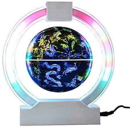 WYZXR Magnetschwebekugel, 6-Zoll-Sternbildkarte mit LED-Lichtern, pädagogisches Kinder, blau