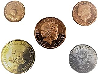 Novelty collections 5 Uncommon European Countries Uncirculated Coins(Multi Color)