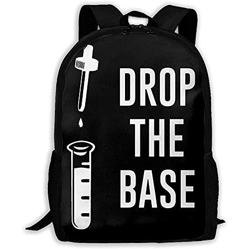 Kimi-Shop Unisexe Sac à Dos pour Adultes Chemistry-Drop The Base Bookbag Travel Bag Cartables Cartable pour Hommes et Femmes