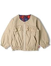 【子供服】 moujonjon (ムージョンジョン) ポリピーチフリル無地ジャケット 90cm~140cm M54121