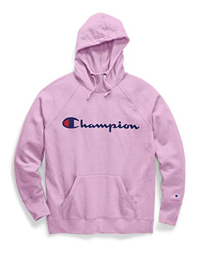 Champion Women's Powerblend Hoodie, Beloved Orchid w/Graphic, 2X Large