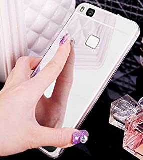 Huawei P9Lite móvil, Huawei P9Lite Funda, Huawei P9Lite Case, ikasus® [Bling brillante espejo de cristal móvil] Huawei P9Lite Funda de silicona, brillante brillante cristal Revestimiento Mirror Es
