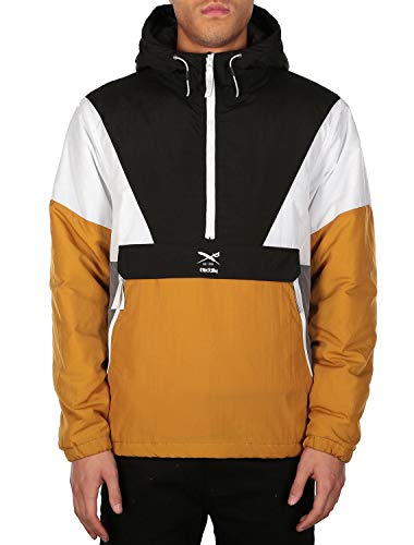 IRIEDAILY Get Down Pull Up Chaqueta Cortavientos Black Yellow