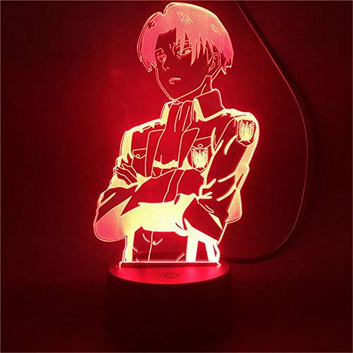 Attack on Titan 3D-Nachtlicht, Optische Täuschung, Tierfiguren, Lampe, Geschenke für Mädchen und Jungen im Alter von 5–12 Jahren, Geburtstagsgeschenk