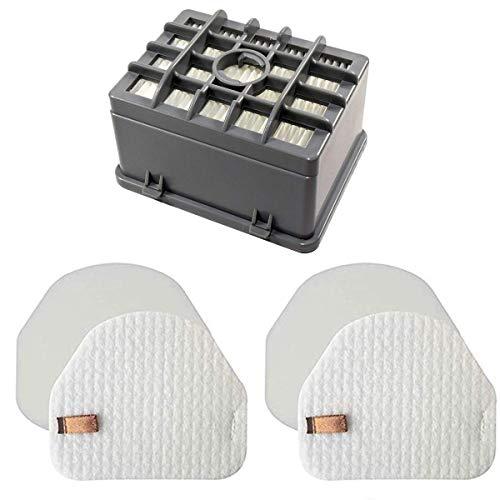 LLHome NV200 Hepa Filter(1 Hepa+2 Foam&Felt for Shark NV450 NV480 NV472 NV481 NV201 NV202 NV200 NV200Q NV200C NV202C Vacuum, XHF480 & XHF450 (Tall Size 2.75')