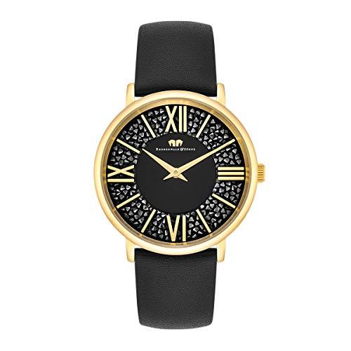 Rhodenwald & Söhne Reloj para Mujer análoga Japón Cuarzo con Correa de Cuero Real Decorado con cristalles de Swarovski 10010334