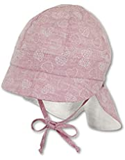 Sterntaler Cap with Visor and Neck Protection Bonnet Bébé Fille