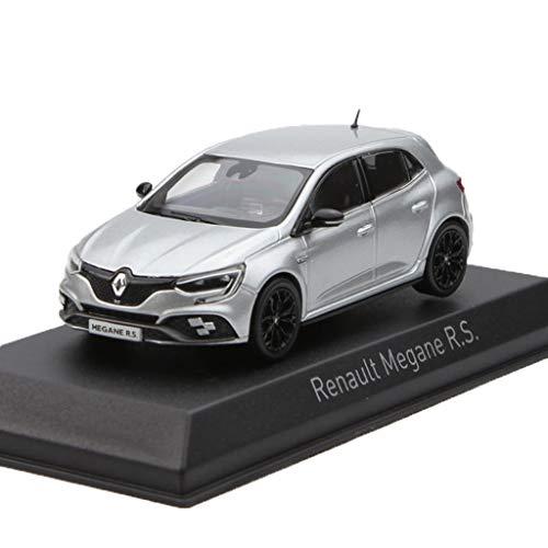 GAOQUN-TOY 1:43 Renault Megane R.S 2018 Modelo de Coche de aleación (Color : La Plata, Tamaño : 10cm*4.5cm*3.5cm)