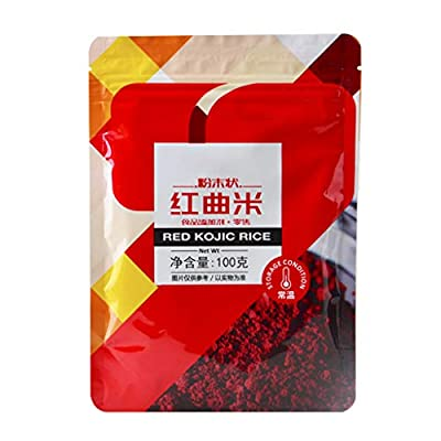 Red Yeast Rice Powder,100g Natural Red Yeast Rice Powder Monascus Purpureus Extract for Velvet Cake Coloring Pigment Baking Ingredients Food Supplements