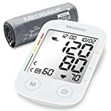 Medisana BU 535 Oberarm-Blutdruckmessgerät, Arrhythmie-Anzeige, WHO-Ampel-Farbskala, für präzise Blutdruckmessung und Pulsmessung mit Speicherfunktion - Stiftung Warentest 2,4 GUT