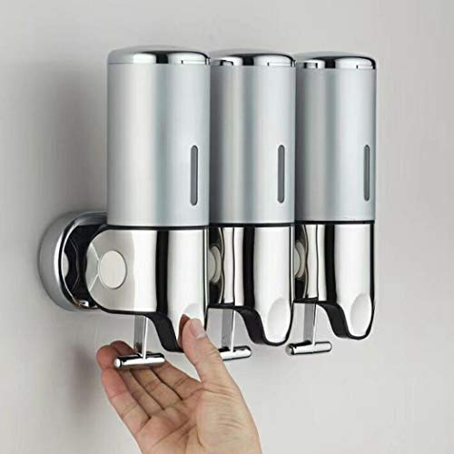LanfengEU Dispenser per Sapone Liquido a Parete per Doccia Kitchen Triple/Double/One Head Dispenser per Gel Shampoo 500/1000 / 1500ml