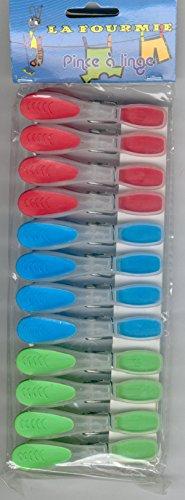 12 pinces à linge en plastique