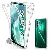 COPHONE - Funda para Huawei P40 Lite 5G 100%Transparente 360 Grados Protección Completa Delantera Suave de silicona+ Trasera rígida. Funda táctil 360 Grados antigolpes para Huawei P40 Lite 5G