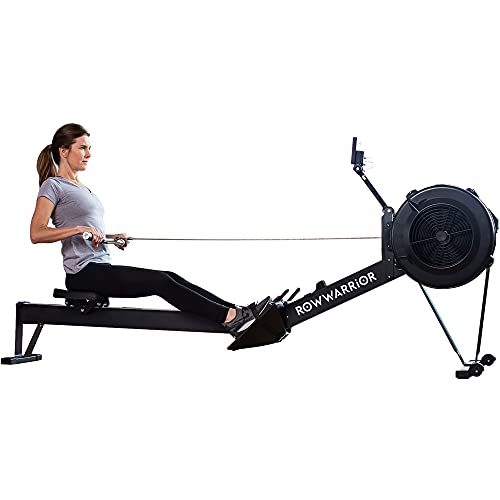 Rowing Machine Foldable - Rower Machine for Home Gym, Magnetic Row Machine with LCD Monitor, Tablet Holder & Comfortable Seat Cushion for Cardio & Training, 550lb Weight Limit - Row Warrior