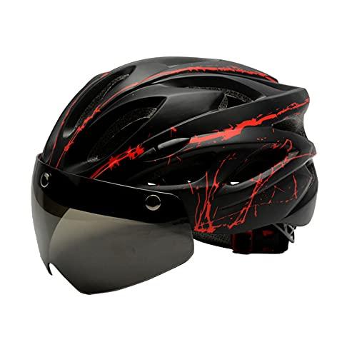 XWHSCXYBZ Bicicletta a Righe Air Bicycle Cycling Equipment da Ciclismo Magicochromatic Belt Biografia montuosa Formazione Integrale Outdoor(Black Red,l)
