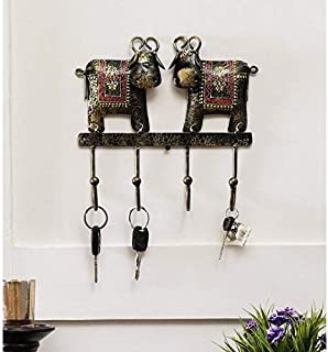 Metal Cow ambossed Wall Hanging Key Holder by accurate art (16x2x9in)