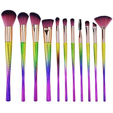 ZYC 11pcs Pinceaux à Maquillage Professionnel Ensembles de brosses Economique/Doux Plastique