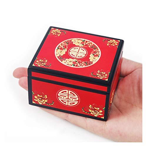 HJHJ Caja de música Creativa Caja De Música 囍 Caja De Música De Boda Caja De Música De Regalo De Cumpleaños Caja De Música Roja De Estilo,Caja De Música (Color : A- More Music)