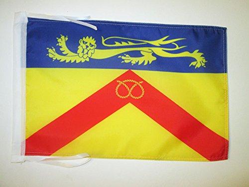 AZ FLAG Flagge GRAFSCHAFT Staffordshire 45x30cm mit Kordel - Staffordshire Fahne 30 x 45 cm - flaggen Top Qualität