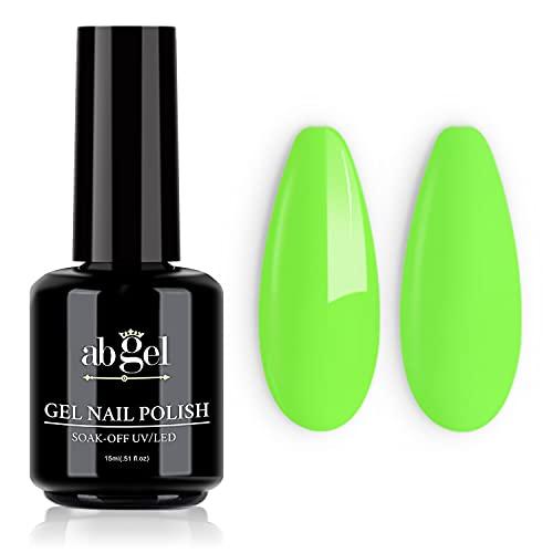 Ab Gel Nail Polish,1Pcs 15ml Neon Green Gel Polish Soak Off UV LED Lamp Drying Nail Polish for DIY Nail Design Salon at Home Art Manicure,0.5 fl oz Super Large Capacity Green Nail Polish