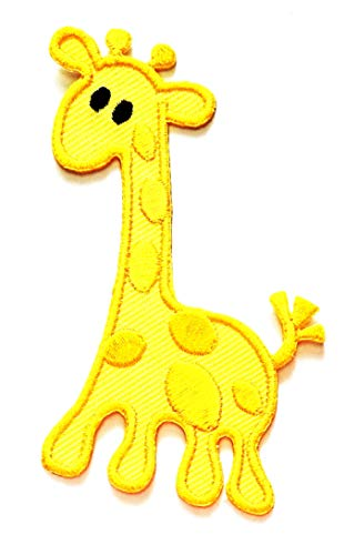 Best Deals! Nipitshop Patches Yellow Giraffe Long Neck Animal Zoo Safari Cartoon Kids Patch Embroide...