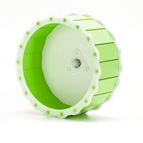 LIUZHI Rueda de ejercicio para mascotas, rueda de ejercicio para hámster silenciosa rotatoria para correr, disco para correr, pequeño accesorio de juguete deportivo para mascotas