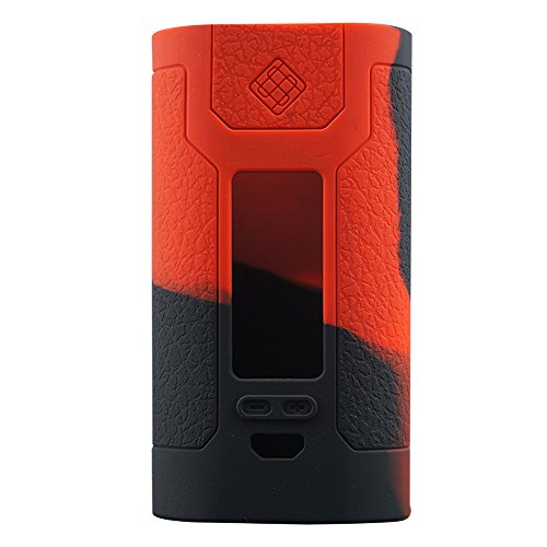 Wismec Predator 228 Silicone Protective Gel Wrap Skin Case Sleeve Cover (Red/Black)