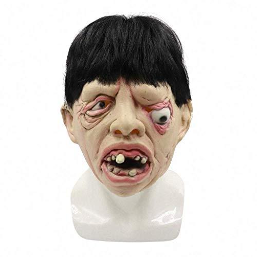 KEMANDUO Maske Scary Halloween-Kostüm Hockey-Maske Mann Frau spielt erwachsenes Kind Radar Rolle.