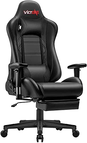 VICTONE Ergonomic Reclining Gaming Chair with Footrest