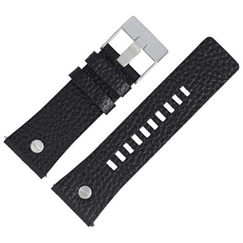 Diesel Bracelet de Montre 28mm Cuir Noir DZ-7313