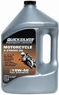 Quicksilver 10W40 Motorcycle Oil, Gallon