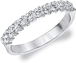 .50 CTTW Destiny Lab Grown Diamond Wedding Ring in 10K Gold, Sparkling in E-F Color and VS Clarity