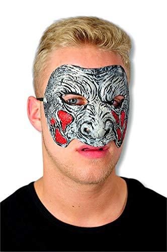 Zombie Masque rouge gris