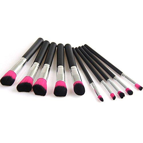 Emorias 10pcs/ensemble Brosse de maquillage incroyable Belle brosse de fard à joues Brosse de fondation Brosse à paupières Kit de brosse