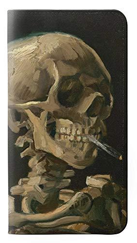 Innovedesire Vincent Van Gogh Skeleton Cigarette Flip Case Cover Custodia per Samsung Galaxy S7