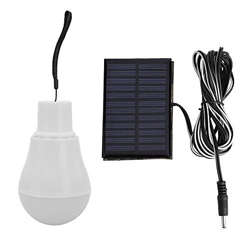 Fuaensm - Lampadina portatile a LED 110 lm, con sensore a energia solare, luce notturna, accensione e spegnimento automatico, per casa, giardino, campeggio, tenda