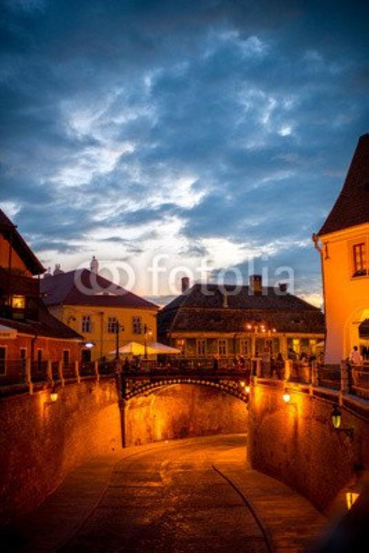 Impresión de DRUCK-SHOP24Deseos Diseo  Night View on Sibiu City   86723385–Imagen Sobre Lienzo, Foto de Póster, Placa de Aluminio Dibond, Cristal acrílico, Forex, Adhesive de Pantalla