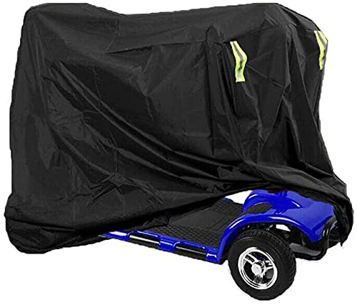 Delixike Mobility Scooter Cover, Heavy Duty Mobility Scooter Storage Rain Cover Waterproof Disability with Draw String and Anti Dust Sun UV fit for Power Scooter Travel Cover(68x145x140cm)