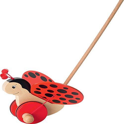 cama24com Schiebetier Marienkäfer aus Holz von goki Holzspielzeug Schiebespielzeug mit Palandi® Sticker