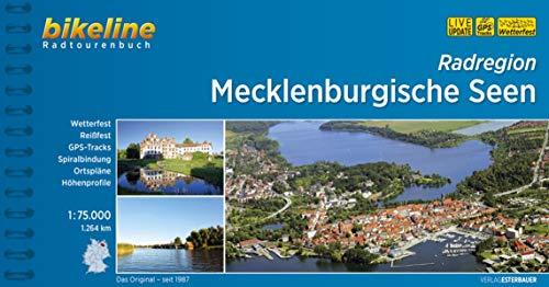 Radregion Mecklenburgische Seen: 1:75.000, 1.264 km, wetterfest/reißfest, GPS-Tracks Download, LiveUpdate (Bikeline Radtourenbücher)