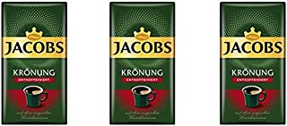 Jacobs Kronung Entkoffeiniert Decaf Ground Coffee 500 Gram / 17.6 Ounce (Pack of 3)