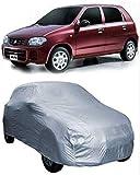 Dh Creation Maruti Suzuki Alto LXI Dust & Water Resistant - Silver Colour Car Body Cover