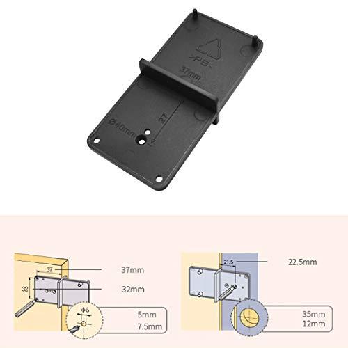 Qiman – Agujero de bisagra, guía de perforación, apertura de plantilla, para armarios, herramientas de procesamiento de madera